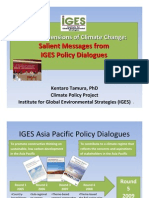 Policy Dimensions of Climate Change