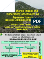 Climate Change Impact and Vulnerability Assessment on Japanese Forests