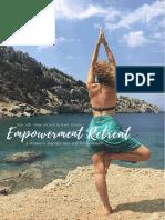 Symi Yoga Retreat's Empowerment Retreat Brochure