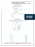 Circle Theorem CXC Past Papers