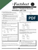 Standard Electrode Potentials & Cells