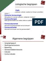 basisbegrippen farmacologie
