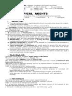 Pharm Chem 1 Lec Pf Unit Vii - Topical Agents 092015