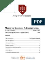 MBA T2 HRM Course Handbook June 10
