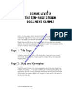 The Ten-Page Design Document Sample