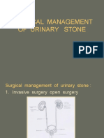 Surgical Management of Urinary Stone