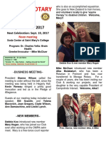 Moraga Rotary Newsletter September 12 2017