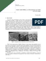 Saúde, Saúde Pública e Determinantes Em Saúde - Teodoro Briz
