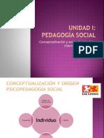 Unidad I Conceptualización y Evolución Histórica Pedagogía Social