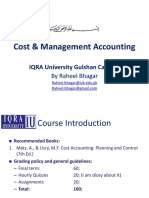 Lecture 01 - Cost Accounting