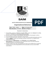 2014 10 Organisational Behaviour Examination