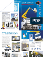 Versalift ET30NE XS Spec Sheet