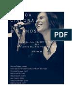 POSTER Monica Cialona @Pianos