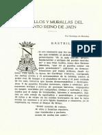 17 - 1958 Castillos y Murallas Del Santo Reino de Jaén I - Santiago de Morales Talero