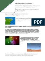 GPS o Sistema de Posición Global
