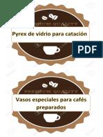 Rotulos Del Ambiente de Control de Calidad de Cafes Especiales