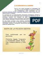 Regiòn Interandina o Sierra