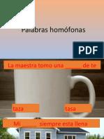 Palabras Homofonas