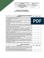 Checklist Para Trabajos de Soldadura