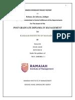 Summer Internship Project Report in Reliance Jio