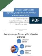 FirmayCertificadoDigital DrJulioNunez Ley de Firmas y Certificados Digitales