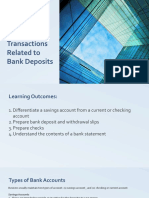 Basic Documents and Transactions Related to Bank Deposits