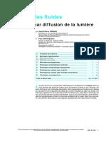 Mécanique Des Fluides. Visualisation Par Diffusion de La Lumière