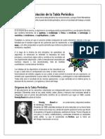 EVOLUCIÓN DE LA TABLA PERIÓDICA Y PROPIEDADES PERIÓDICAS