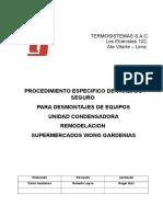 TS-SSOMA-PRO-07 Procedimiento de Desmontajes de Unidad Condensadora
