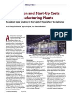 BPI- Construction and Start-Up Costs for Biomanufacturing Plants