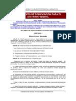 Reglamento de Zonificacion Para El Df