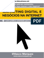 Livro Marketing Digital e Negocios Na Internet - Vasco Marques