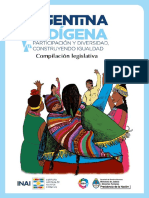 Argentina Indigena Compilacion Legislativa
