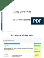 Zoho Wiki Tutorial