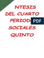 Sintesis Del 4 Periodo Sociales