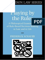 Frederick Schauer Playing by the Rules.docx