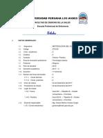Sílabo Metodologia Del Cuidado Enfermero 2017 II Elaborado Grisssel 4 Setiembre
