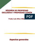Regimen de propiedad exclusiva y propiedad comun