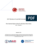 ISFED 1st Pre-Election Interim Report - 2017 Local Elections in Georgia