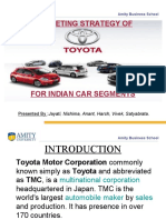Marketing Strategy of Toyota for different car segments