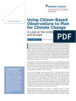Using Citizen-Based Observations to Plan for Climate Change