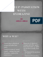 Wet Lay-up/Passivation _basic understanding of hydrazine treatment