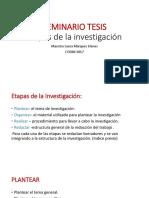 SEMINARIO TESIS Etapas de La Investigación