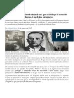 La Asombrosa Historia Del Criminal Nazi Que Acabó Bajo El Bisturí de Estudiantes de Medicina Paraguayos