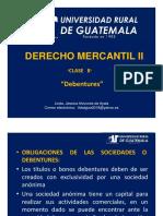 Derecho Mercantil II Clase 8 Debentures