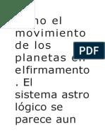 Como El Movimiento de Los Planetas en Elfirmamento