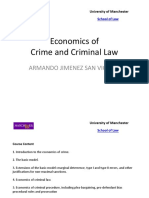Economics of Crime and Criminal Law Armando Jimenez San Vicente