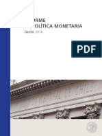Banco Central - Informe Política Monetaria 2016-06