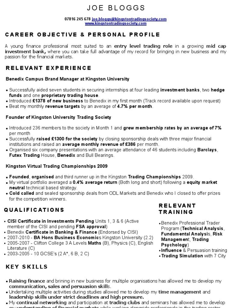 nett stock resume trading zeitgenössisch entry level resume