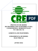 Projectos de Redes Subterranea Nte Cre 036